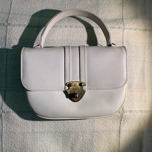 Vintage 1950s Murray Kruger White Leather Day Bag